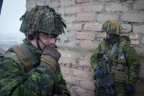 Soldat qui communique